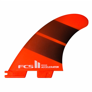 FCS II Accelerator Neo Glass Large Tang Gradient Tri Fins