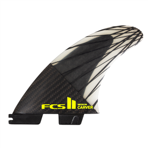 FCS II Carver PC Carbon Medium Black/Acid Tri Fins