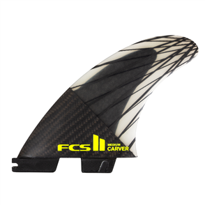 FCS II Carver PC Carbon Large Black/Acid Tri Fins