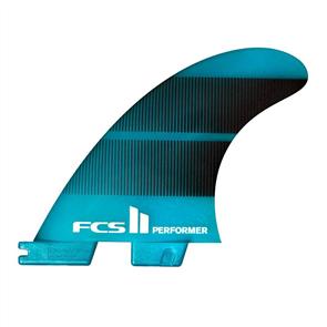 FCS II Performer Neo Glass Small Teal Gradient Tri Fins
