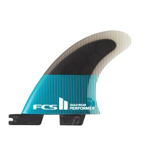 FCS II Performer PC Small Teal/Black Quad Rear Fins