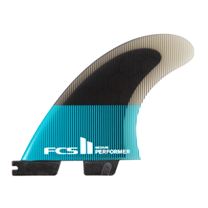 FCS II Performer PC Large Teal/Black Tri  Fins