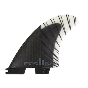 FCS II REACTOR PC CARBON TRI FINS CHARCOAL, MEDIUM