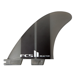 FCS II Reactor Neo Glass Medium Charcoal Gradient Tri Fins
