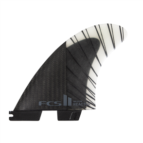 FCS II Reactor PC Carbon Large Black/Charcoal Tri  Fins