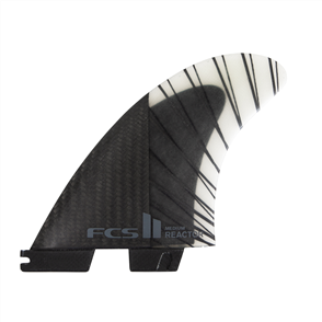 FCS II Reactor PC Carbon Medium Black/Charcoal Tri Fins