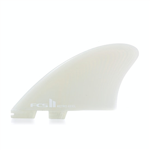 FCS II Retro Keel PG Clear Twin Retail Fins