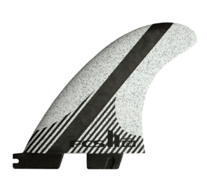 FCS FCS II FW PC Carbon White Medium Tri-Quad Retail Fins