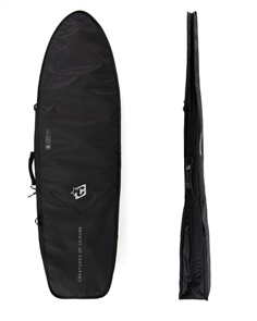 Creatures Of Leisure Fish Double DT2.0 Surfboard Bag, Blk/ Silver