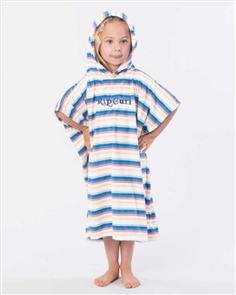 Rip Curl 100% Microfibre Kids Mini Surfin Hooded Towel, Multi Striped