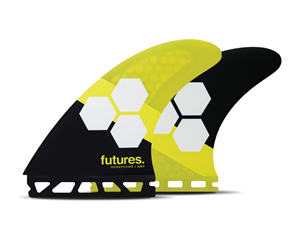Futures AM2 Honeycomb Thruster Fin Set, Yellow Black
