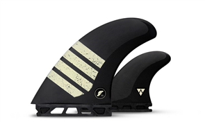 Futures Alpha Ft1-V2 Twin fin set, Carbon Tan