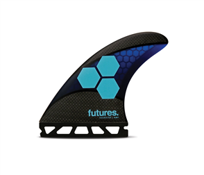 Futures Am1 Techflex Thruster Set (FTT3), Blue Cyan