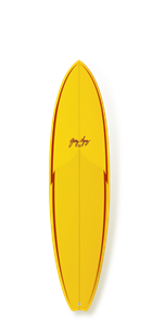 Gerry Lopez Little Darlin PU Five-fin, Yellow, 6'8