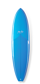 Gerry Lopez Little Darlin PU Five-fin, Light Blue, 7'11