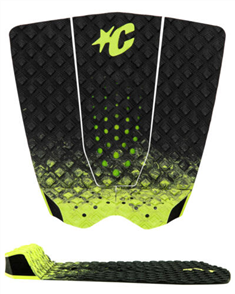 Creatures Of Leisure GRIFFIN COLAPINTO LITE SURF GRIP PAD, Black Fade Lime