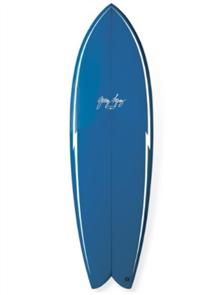 Gerry Lopez Something Fishy PU Quad-fin, Blue, 5'6