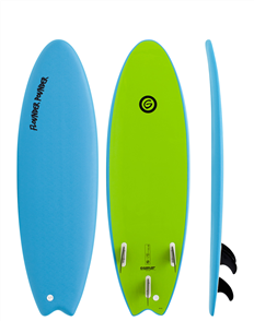 Gnaraloo Flounder Pounder Softboard, Blue Lime