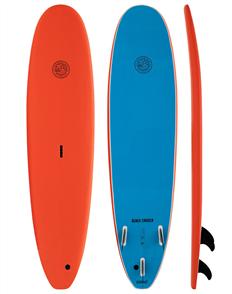 Gnaraloo Beach Cruiser Soft Surfboard, Orange Blue