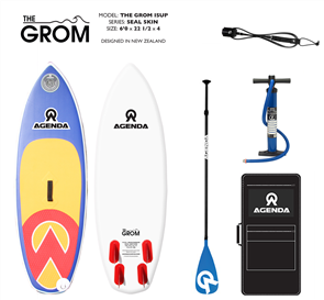 Agenda The Grom Kids Isup 6'0 combo with F/Glass Youth Paddle TM