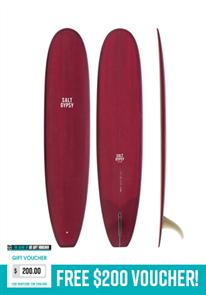 Salt Gypsy Surfboards & SUP Dusty Retro Longboard Merlot Tint Surfboard