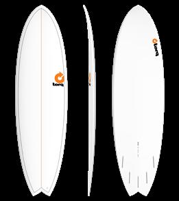 Torq Pinline Surfboard, White/ Pinline