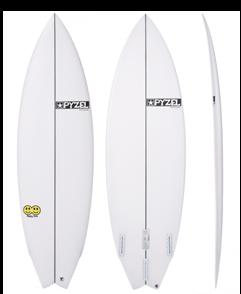 Pyzel Happy Twin Funformance Surfboard with FCS II Twin Fins