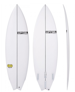 Pyzel Happy Twin Funformance Surfboard with Futures Thruster Fins
