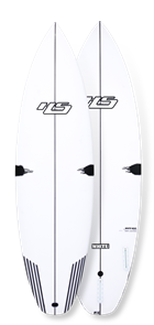 Hayden Shapes White Noiz PE/Comp Stringer Surfboard, Futures