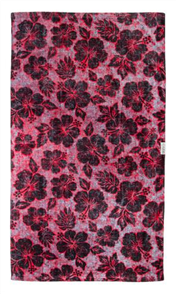 LEUS 100% Cotton Print Beach Towel, Heavy Petal