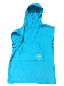 Curve 100% Cotton Kids El Poncho Hooded Towel, Aqua