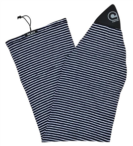 Curve Surfboard Socks - Longboard Fish, Blue Skinny Stripe