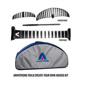 Armstrong Foils HS1050 Wing + 72cm Mast Foil Kit, Create your custom combo