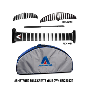 Armstrong Foils HS1250 Wing + 72cm Mast Foil Kit, Create Your Custom Combo