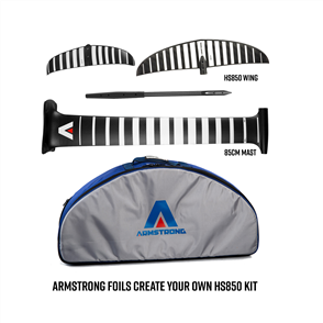 Armstrong Foils HS850 Wing + 85cm Mast Foil Kit, Create your custom combo