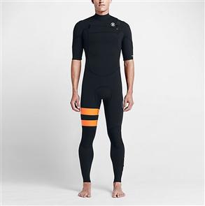 Hurley Mens Fusion 2/2mm Short Sleeve Full Suit 00Ab, Black B