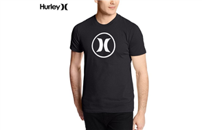 Hurley Icon Stack Df T-Shirt-00A Icon Stack Df T-Shirt-00A-Black