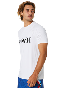 Hurley One And Only Surf Shirt Short Sleeve Rash Vest, 100 White