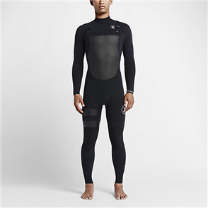 Hurley Mens Fusion 3/2mm Full Suit Wetsuit 00A, Black
