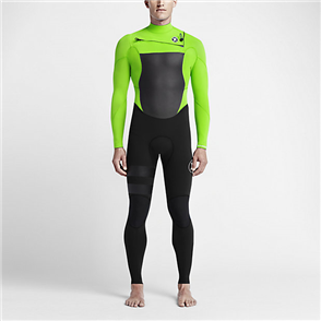 Hurley Boys Fusion 3/2mm Full Suit Wetsuit 3Kz, Voltage Green