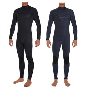 O'Neill Hyperfreak Full Fuze 4/3+mm Long-Sleeve Chest Zip Steamer, Black