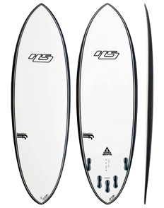 Hayden Shapes Hypto Krypto FCSII Future Flex 5 Fin Short Board, Clear