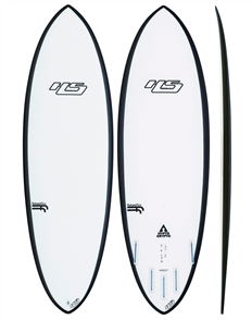 Hayden Shapes Hypto Krypto Futures 5 fin Future Flex Short Board, Clear
