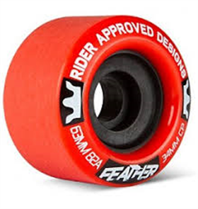 Sector 9 Longboards Rad Feather 82A 63mm Wheels, Red