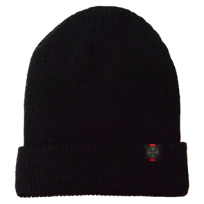 Independent Cross Fold Over Beanie, Black