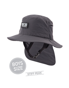 Ocean & Earth Indo Boys Surf Hat, Black