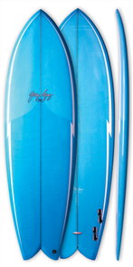 GERRY LOPEZ Something Fishy PU Quad-fin, Light Blue, 5'10
