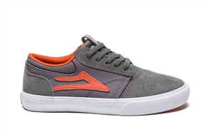 Lakai Griffin Kids Skate Shoe Suede, Grey Rust