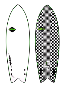 Softech Surfboards Kyuss Fish Soft Surfboard, Checkered