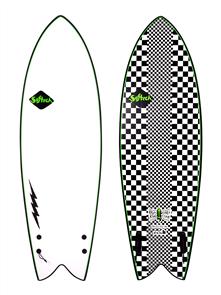 Softech Surfboards Kyuss Fish Soft Surfboard, Checkered